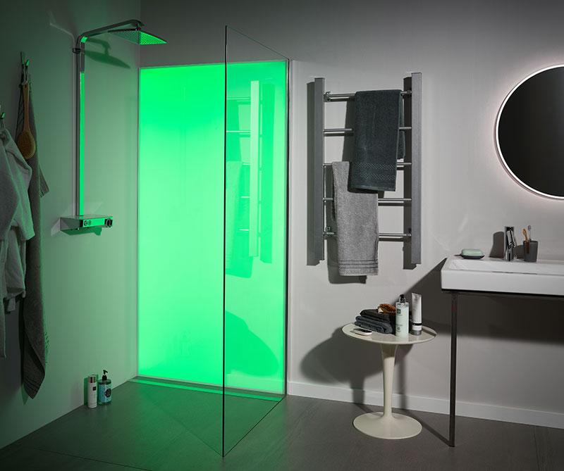 UV-Digitaldruck und LED-Licht +++ ELEMENTE MaterialForum
